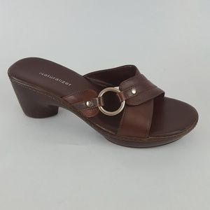 Naturalizer Shoes - Naturalizer Slides Pump Sandals Brown Women's 7W